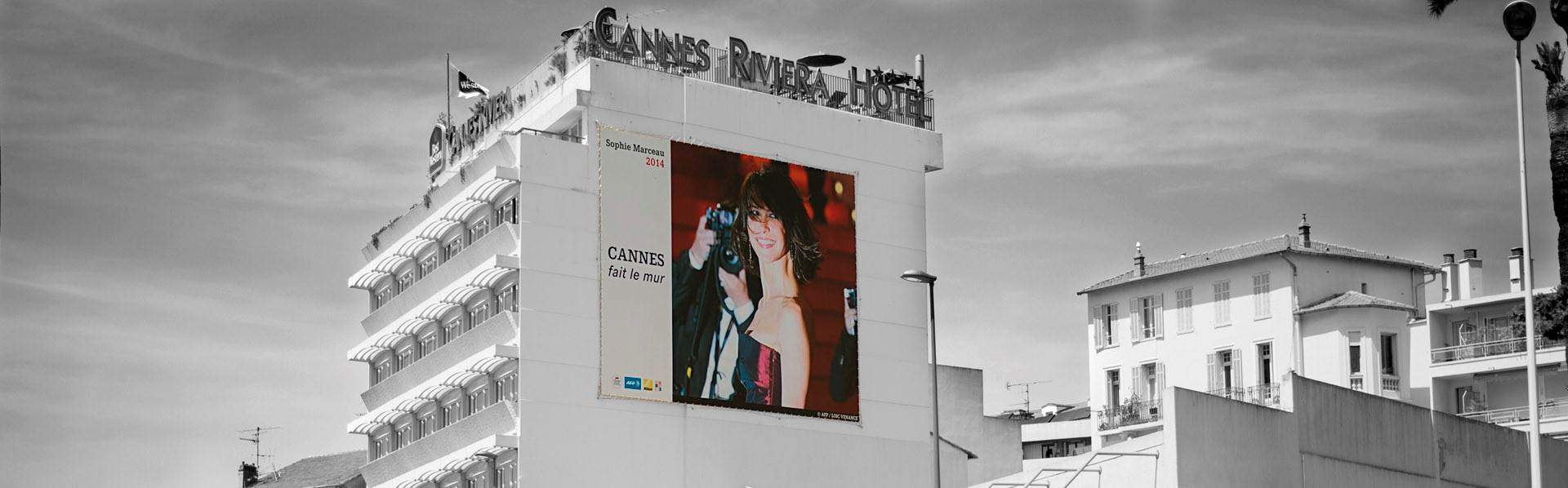 cannes festival affichage rues