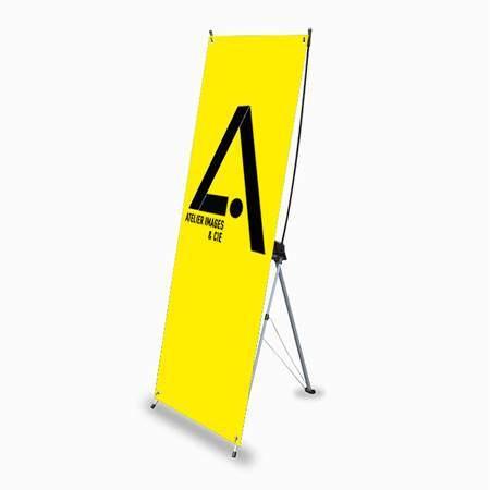 X banner stand tissu