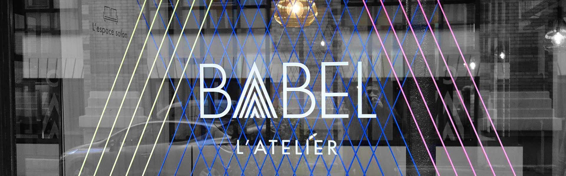 babel agence décoration vitrine