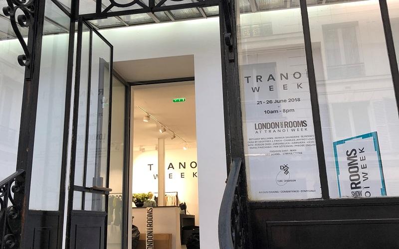 tranoi week galerie adhésif vinyle signalétique adhésive