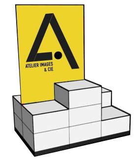modulo cube presentoir vitrine magasin