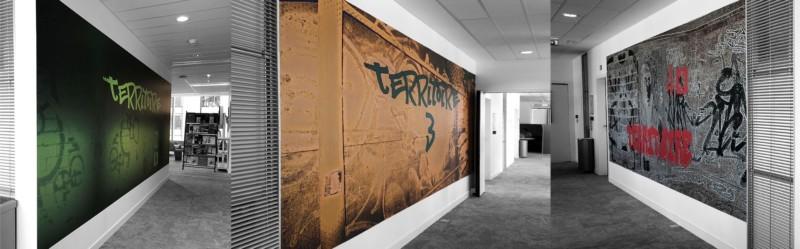 fresque street art impression numérique