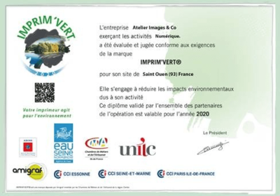 certificat label imprim vert impression bio