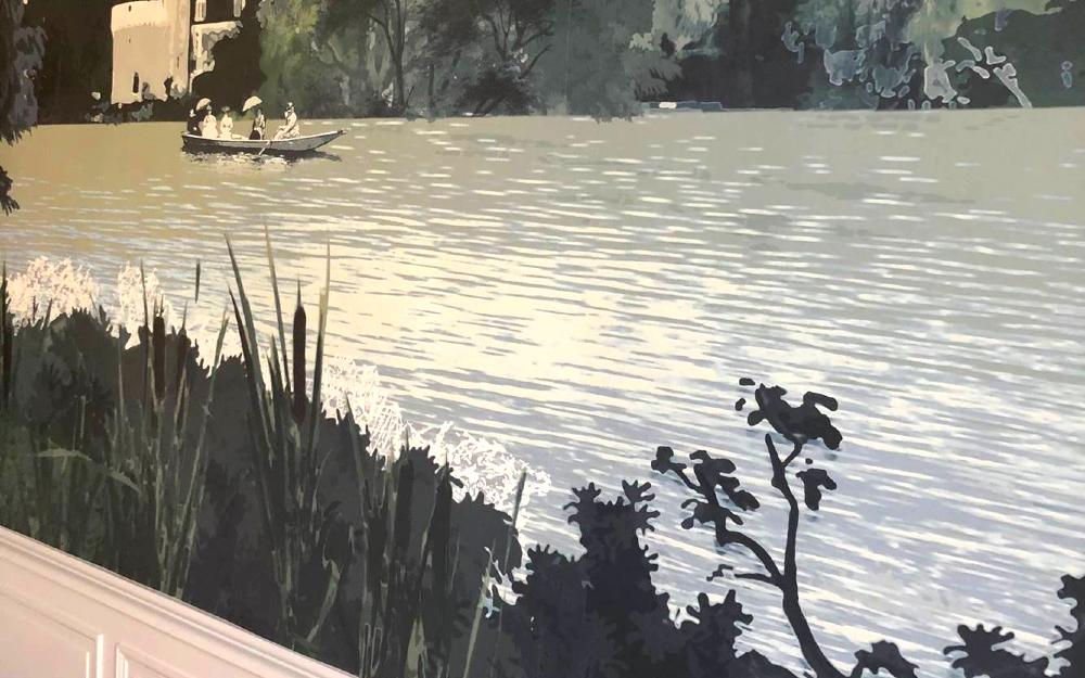 détail papier peint panoramique paysage